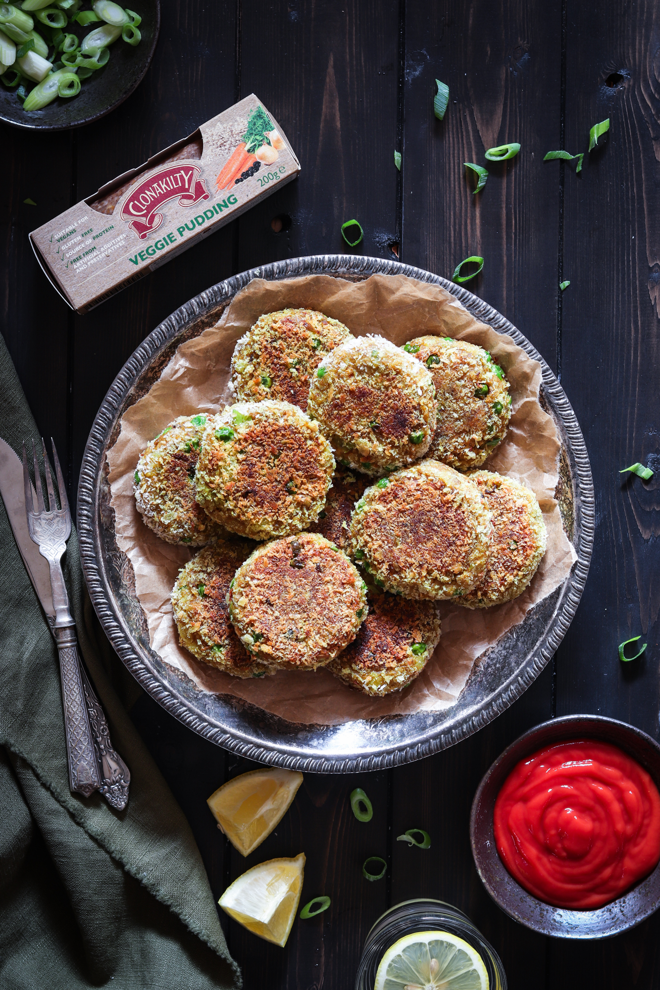 Indian spiced veggie pudding cutlets
