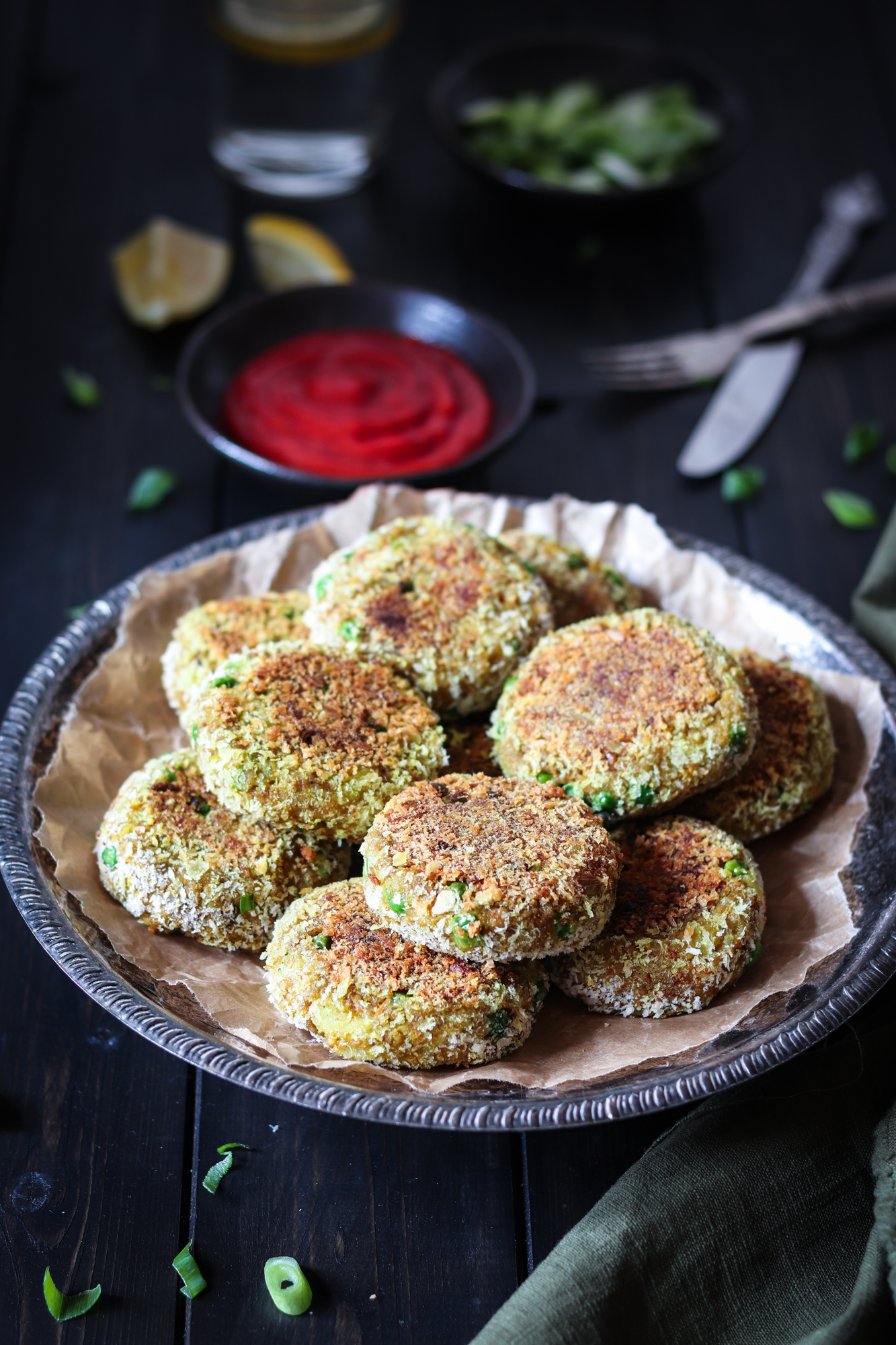 Indian spiced veggie cutlets