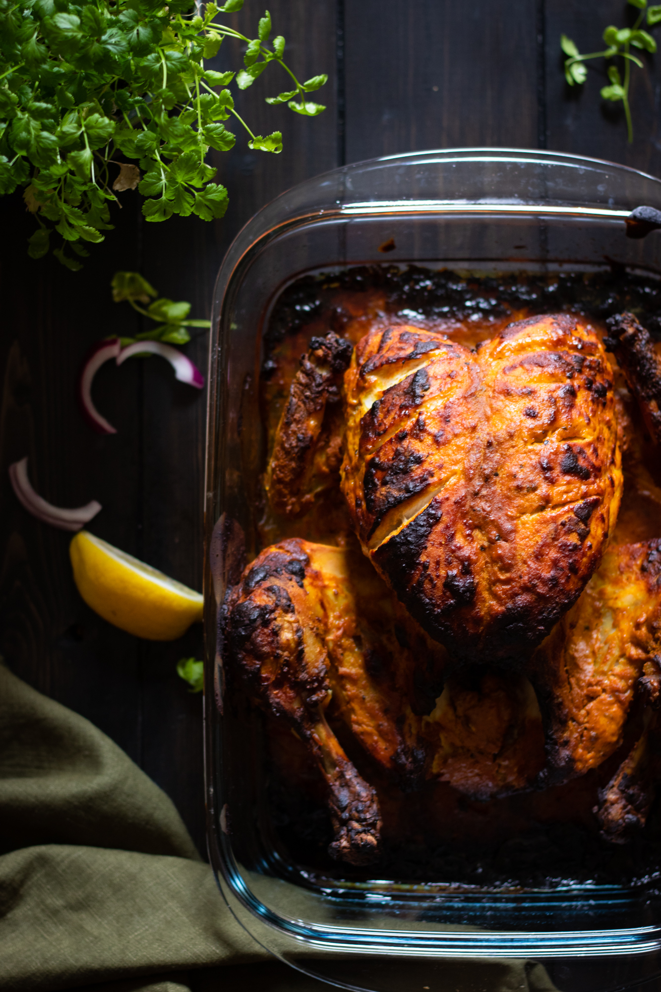 Tandoori chicken whole