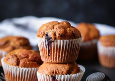 Mixed Berries and pistachios muffins